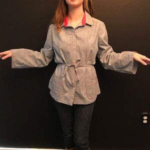 Denim retro vintage chore shirt with pockets